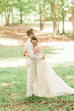 """""""A bride and groom share a moment during their first glimpse at a traditional farm wedding in greensboro NC"""", Greensboro-College- Wedding-Photos-Greensboro-NC (46 of 89)"""