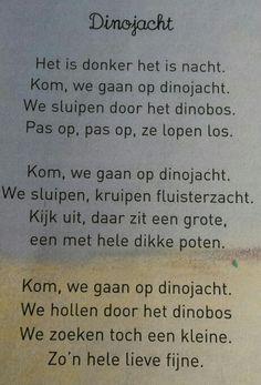 Versje: dinojacht Fun Warm Up Games, Dino Museum, Learn Dutch, School Themes, Stories For Kids, Poetry, Words, Google, Blog