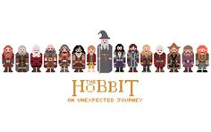 The Hobbit Cross Stitch Pattern - An Unexpected Journey (PDF). £3.50, via Etsy.