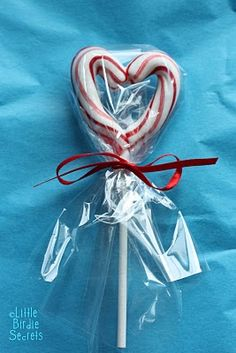 candy cane hearts Place on parchment paper and bake at 350 for about five minutes.