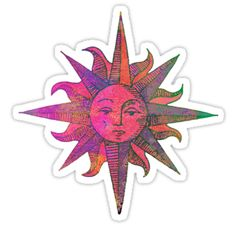 """""""Pink Sun"""" Stickers by sweetslay 