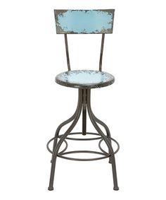 Loving this Blue Iron Bar Stool on #zulily! #zulilyfinds
