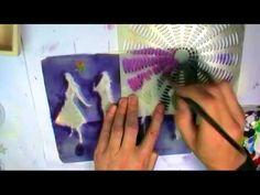 gelatin plate, mono print, gelli printing tutorials, gelli plate videos, andi skinner, paint, plate printmak, stencil, gelli joy