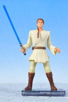 "Star Wars Ep1 Jedi Duel OBI WAN KENOBI 3.75"" Action Figure Kenner 1999 #Kenner"