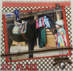Horse scrapbook page