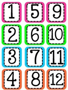 Includes numbers and 5 blank cards in BRIGHT Neon colors! Creative Calendar, Free Calendar, Polka Dot Classroom, Classroom Labels, Numbers Preschool, Preschool Printables, Circle Time Board, Calander Printable, Resource Room Teacher