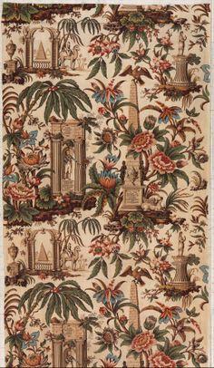 Lord Nelson commemorative textile Attributed to John Burg Date: 1806 Culture: British, Lancashire Medium: Cotton Textile Patterns, Textile Prints, Textile Design, Print Patterns, Antique Quilts, Vintage Textiles, Chintz Fabric, Century Textiles, Vintage Design