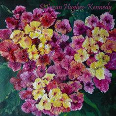 Lantana Acrylic on Gallery Wrapped Canvas 4″x4″ $35.00
