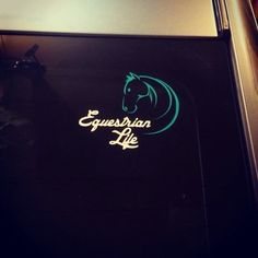 A personal favorite from my Etsy shop https://www.etsy.com/listing/221619921/equestrian-life-decal