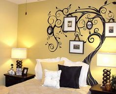 Beautiful Abstract Trees Wall Murals Stickers for Bedroom Wall Art Designs Ideas