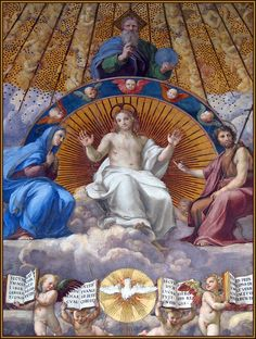 Vatican Museums - Raphael Rooms - Room of The Segnatura - The Holy Trinity