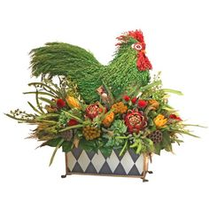 I pinned this Rooster Arrangement from the Forever Green Art event at Joss and Main!
