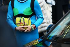 Quirky colour combinations and textures - Tommy Ton Shoots Street Style at the Fall 2014 Fashion Shows
