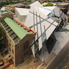 The extension to the ROM by Daniel Libeskind This project is almost finished. They have to fit out the new galleries and complete the paving. The new show in town will be the Frank Gehry addition to the AGO.