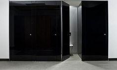 glass toilet cubicles - Flow Line by Thrislington Cubicles