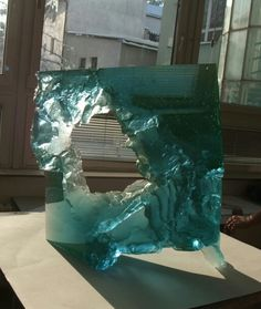 Petr STACHO-Frozen (2011) - cast glass, 40x35x13cm