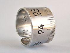 Bague mètre pliant Bague T 61 Bague aluminium par elisaboutique