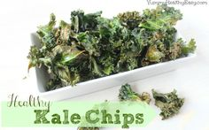 Yummy. Healthy. Easy. - Easy & Healthy Baked Kale Chips! Easy to make healthy snack when you have a crunch craving! #snack #recipe #kale