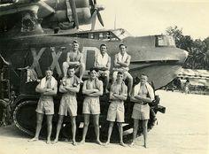 RNZAF 6 Squadron Beach Crew 1945, via Flickr.