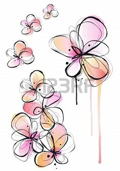 Buy Abstract Watercolor Flowers, Vector by amourfou on GraphicRiver. Abstract ink and watercolor flowers, vector background AI EPS 10 and high resolution JPG pixel included Watercolor Flower Vector, Vector Flowers, Abstract Watercolor, Watercolor And Ink, Watercolor Paintings, Watercolor Tattoos, Tattoo Abstract, Flower Clipart, Art Clipart