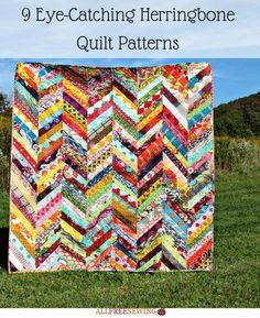 9 Eye-Catching Herringbone Quilt Patterns | FaveQuilts.com