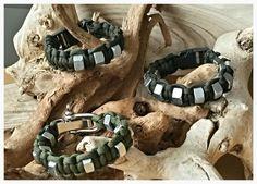 Hexnut army green Paracord bracelet  'Engineer'