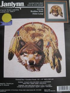 Brother Wolf Counted Cross Stitch Kit this seems to be a lit