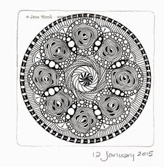 One Tangle : Week 2 - 52 Tangles in 2015