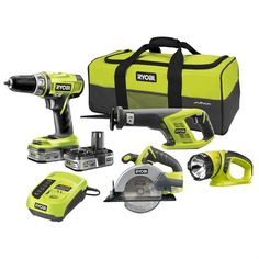 Ryobi One+ combo kit.   I have been thinking I need a Lithium Ion cordless drill for a while. The Nicad one I have was cheap, and the batteries are almost shot.  This set is cool, and at only $339, its not to much more than the drill only.    The beauty with Li-Ion batteries is the manufacturer has to go to the effort to make a proper charging system, as the batteries tend to explode otherwise. Unlike Nicad, which seem to use a crappy basic charger, which just charges the battey until its…
