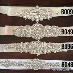 Crystal Rhinestone Bridal Belts I love sparkles, I still have my wedding belt from my wedding dress in a scrapbook. One day my girls will get to wear on their wedding day too (if they want to). Wedding inspo keep it coming Wedding Belts, Wedding Sash, Bridal Sash, Bridal Belts, Wedding Dress, Rhinestone Belt, Crystal Rhinestone, Bridesmaid Belt, Girls Belts