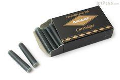 Diamine Fountain Pen Ink Cartridge - Blue Black - Pack of 18 - JetPens.com