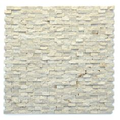 Solistone 10-Pack 12-in x 12-in Modern Tan Natural Stone Mosaic Subway Wall Tile (Actuals 12-in x 12-in)