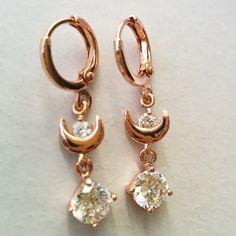 Bride's Sailor Moon themed earrings.