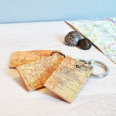 Personalised Map Keyring - frequent traveller