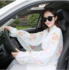 メルカリ商品: UVカット シフォンシャツ 日焼け止めロングスリーブカフ袖 #メルカリ