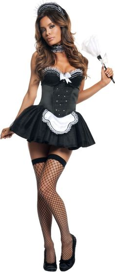 Sexy Seductive French Maid Costume for Adults - Party City
