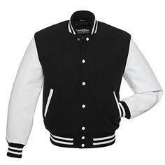 47301855c77b Buy Stewart   Strauss Letterman Jacket (37 Team Colors) - Varsity Jacket  Wool   Leather Sleeves - XXS 6XL online