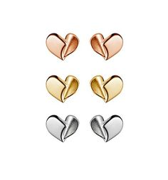 Forever Heart stud earrings - beautifully simple silver, yellow & rose gold stud earrings by Simon Pure to add a little elegance to every day. Mens Gold Jewelry, Black Hills Gold Jewelry, Silver Jewelry Box, Gold Jewelry Simple, Gold Rings Jewelry, Heart Jewelry, Heart Earrings, Stud Earrings, Jewellery Earrings
