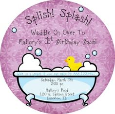 Sweet rubber ducky birthday party theme for baby girl's 1st birthday by Six Eighteen Design.