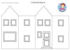 huisje om te knutselen 1, thema post en pakket kleuteridee Clay Houses, Reggio Emilia, Toddler Activities, Gallery Wall, School, Frame, Home Decor, Assessment, Classroom