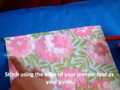 Simple Drawstring Bag Sewing Tutorial - YouTube