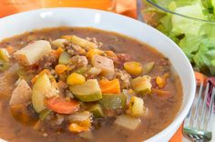 Slowcooker Paleo Minestrone Soup {grain-free | dairy-free | whole30 | vegan option}