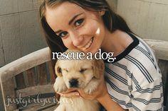 Bucket list: Rescue a dog