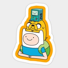 Cute Laptop Stickers, Emoji Stickers, Cartoon Stickers, Tumblr Stickers, Cool Stickers, Printable Stickers, Adventure Time Tattoo, Adventure Time Finn, Fin And Jake