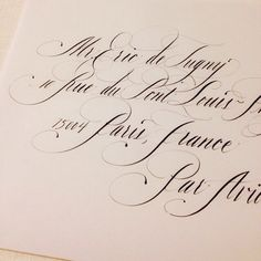 Stephanie Fishwick's Calligraphy in Formal Copperplate