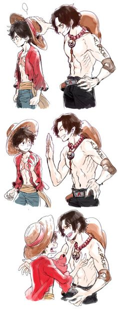Monkey D. Luffy and Portgas D. Ace One piece – Monkey D Luffy One Piece Manga, One Piece ルフィ, One Piece Drawing, One Piece Comic, One Piece Fanart, One Piece Luffy, Anime Yugioh, Manga Anime, Anime Body