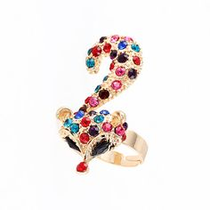 Color exaggerated fashion fox ring adjustable ,only $4.99 shop at Costwe.com
