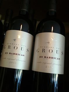 This is one of my favourites from Alentejo. Herdade dos Grous 23 Barricas, only made by Touriga Nacional