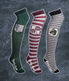 Attack On Titan Long Socks #attackontitan #aot #snk #anime #shingekinokyojin #merch #merchandise