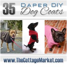 35 DIY Dog Coats...Baby it's cold outside and you will find a coat that is perfect for your pup!
